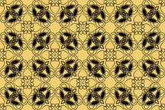 Beautiful lace patterns. Vintage black ornament. White ornament on gold background. Filigree repeatable ornament. Oriental patterns. vector EPS 10 Royalty Free Stock Images