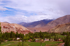 Beautiful Ladakh landscape colors Stock Photos