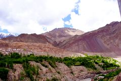 Beautiful Ladakh mountain scenery Royalty Free Stock Photos