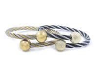 Beautiful ladies bracelets, stainless steel Stock Photos