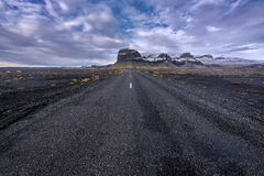 Beautiful ladnscape of highway at Iceland Stock Photo
