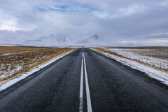 Beautiful ladnscape of highway at Iceland, nature Royalty Free Stock Photography