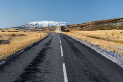 Beautiful ladnscape of highway at Iceland, nature Royalty Free Stock Image