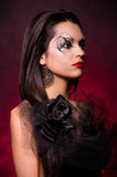 Beautiful lady with art makeup Royalty Free Stock Images