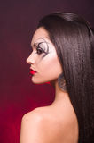 Beautiful lady with art makeup Royalty Free Stock Image