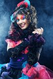 Beautiful lady with artistic make-up. Doll style. Stock Photos