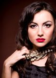 Beautiful lady with bad mood Royalty Free Stock Photos