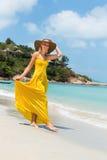 Beautiful lady on the beach Stock Photography