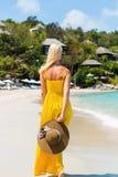 Beautiful lady on the beach Royalty Free Stock Photo