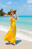 Beautiful lady on the beach Royalty Free Stock Photography