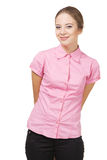 Beautiful lady in casual clothing Stock Photography