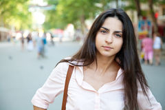 Beautiful lady in the city Royalty Free Stock Photography