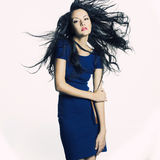Beautiful lady with dark hair Royalty Free Stock Photography