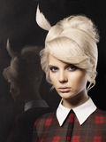 Beautiful lady with fashion hairstyle Royalty Free Stock Photos