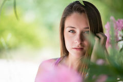 Beautiful lady in a headshot, smooth skin and beautiful features Stock Photography