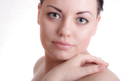 Beautiful lady with healthy skin Stock Images
