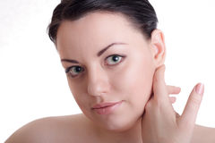 Beautiful lady with healthy skin Royalty Free Stock Image