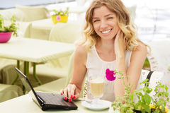 Free Beautiful Lady In A Restaurant Stock Photo - 24929700