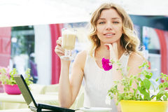 Free Beautiful Lady In A Restaurant Stock Photos - 24929703