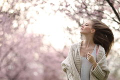 Free Beautiful Lady In The Park In Spring Time Stock Images - 40256504