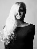 Beautiful lady with magnificent hair Stock Photos