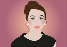Beautiful lady portrait. Suitable for makeup expert or hair stylist vector illustration