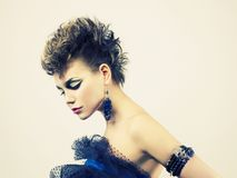 Beautiful lady punk Royalty Free Stock Images