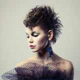 Beautiful lady punk Royalty Free Stock Photo