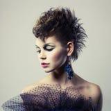 Beautiful lady punk Royalty Free Stock Photo