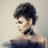Beautiful lady punk Stock Photography