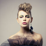 Beautiful lady punk Stock Images