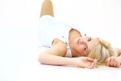 Beautiful lady relaxing Royalty Free Stock Photography