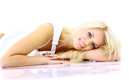 Beautiful lady relaxing Stock Images