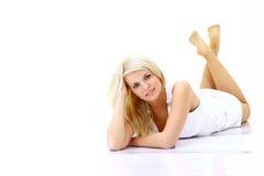 Beautiful lady relaxing Stock Photo