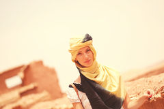 Beautiful lady with scarf Royalty Free Stock Photos