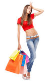 Beautiful lady with shopping bags Stock Photo