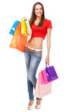 Beautiful lady with shopping bags Stock Photography