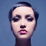 Beautiful lady with short hair Royalty Free Stock Images