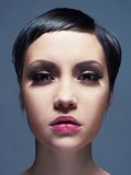 Beautiful lady with short hair Stock Photography