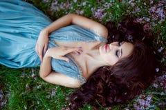 Beautiful lady spring Stock Image