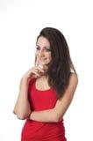 Beautiful lady thinking Stock Images