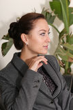 Beautiful lady thinking Stock Image