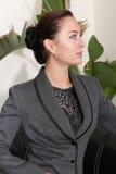 Beautiful lady thinking Royalty Free Stock Photos