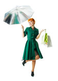 Beautiful lady with an umbrella Royalty Free Stock Image