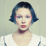 Beautiful lady with unusual makeup Stock Photo