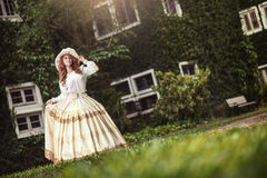 Beautiful lady in vintage outfit Stock Image