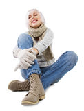 Beautiful lady in warm clothes Royalty Free Stock Photos