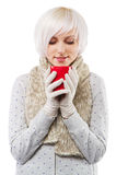 Beautiful lady in warm clothes Stock Photography