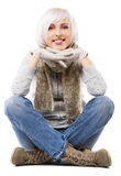 Beautiful lady in warm clothes Stock Photo