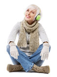 Beautiful lady in warm clothes Royalty Free Stock Photo